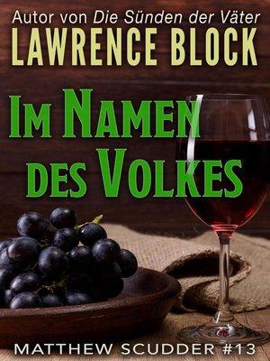 cover image of Im Namen des Volkes