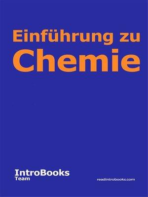 cover image of Einführung zu Chemie