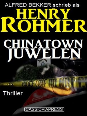 cover image of Chinatown-Juwelen