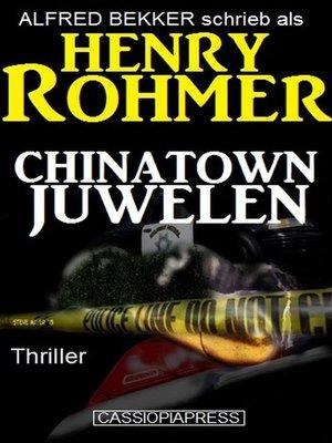 cover image of Chinatown-Juwelen