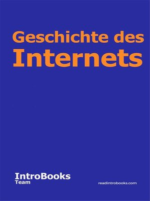 cover image of Geschichte des Internets