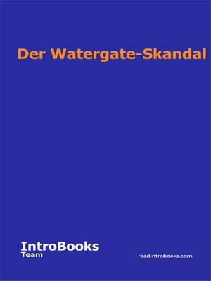 cover image of Der Watergate-Skandal