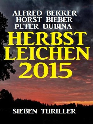 cover image of Herbstleichen