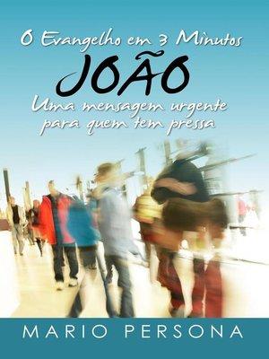 cover image of O Evangelho em 3 Minutos--Joao