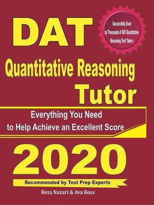 cover image of DAT Quantitative Reasoning Tutor