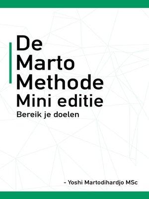 cover image of De Marto Methode NL
