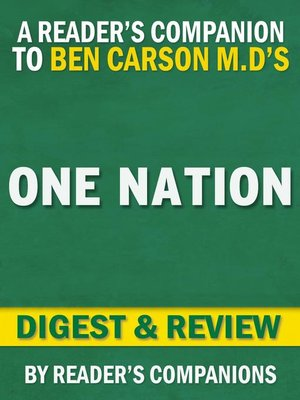 cover image of One Nation