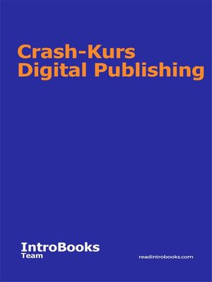 cover image of Crash-Kurs Digital Publishing