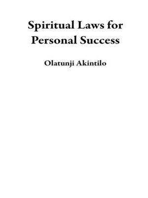 cover image of Spiritual Laws for Personal Success