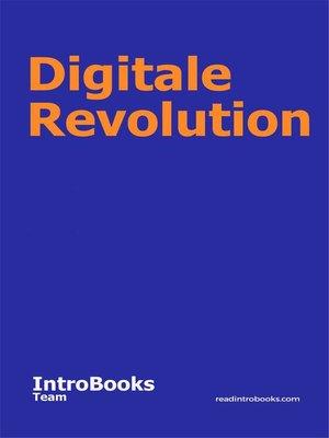 cover image of Digitale Revolution