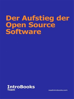 cover image of Der Aufstieg der Open Source Software