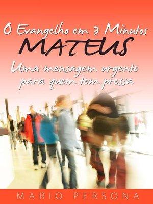 cover image of O Evangelho em 3 Minutos--MATEUS