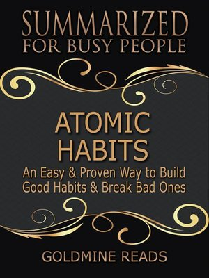 cover image of Atomic Habits--Summarized for Busy People
