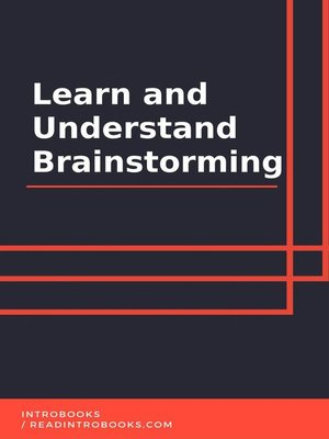 cover image of Learn and Understand Brainstorming