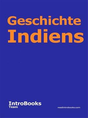 cover image of Geschichte Indiens