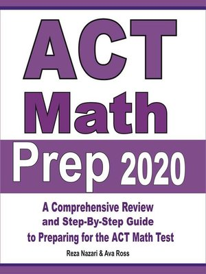 cover image of ACT Math Prep 2020