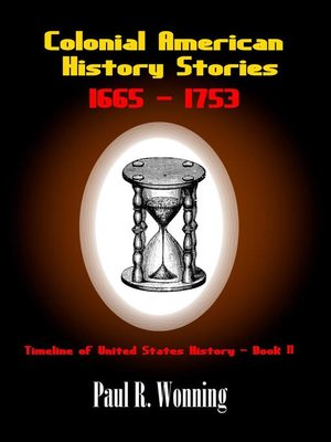 cover image of Colonial American History Stories –1665--1753