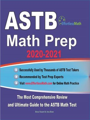 cover image of ASTB Math Prep 2020-2021