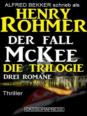 cover image of Der Fall McKee--Die Trilogie