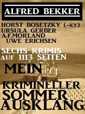 cover image of Sechs Krimis auf 1113 Seiten