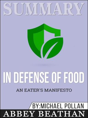 cover image of Summary of In Defense of Food