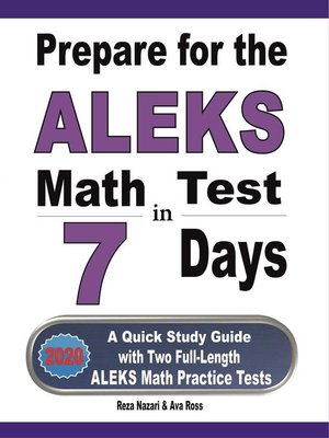 cover image of Prepare for the ALEKS Math Test in 7 Days