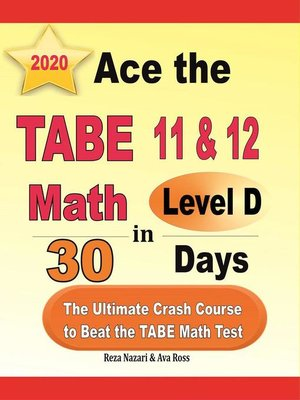 cover image of Ace the TABE 11 & 12 Math Level D in 30 Days