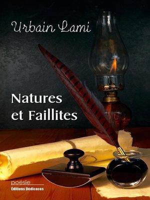 cover image of Natures et faillites