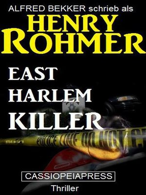 cover image of East Harlem Killer
