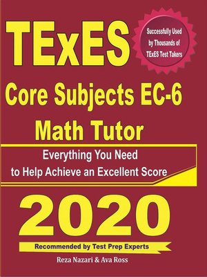 cover image of TExES Core Subjects EC-6 Math Tutor