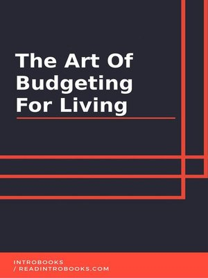 cover image of The Art of Budgeting for Living