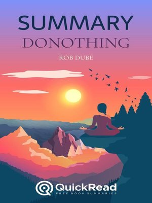 """cover image of Summary of """"donothing"""" by Rob Dube"""