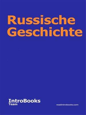 cover image of Russische Geschichte