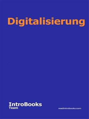 cover image of Digitalisierung