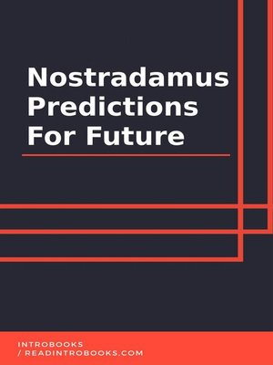 cover image of Nostradamus Predictions For Future