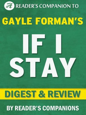 cover image of If I Stay by Gayle Forman | Digest & Review