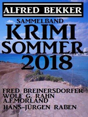cover image of Krimi Sommer 2018