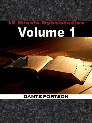 cover image of 15 Minute Bybelstudies