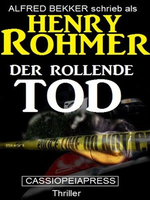 cover image of Der rollende Tod
