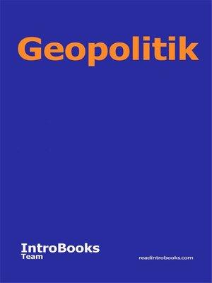 cover image of Geopolitik
