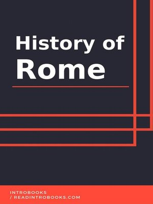 cover image of History of Rome