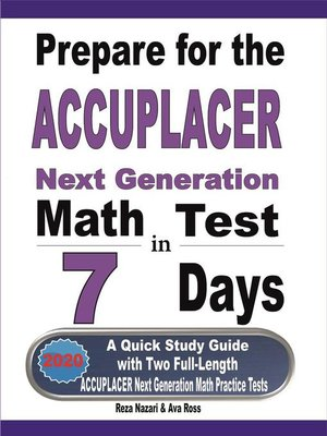 cover image of Prepare for the ACCUPLACER Next Generation Math Test in 7 Days