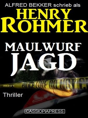 cover image of Maulwurfjagd