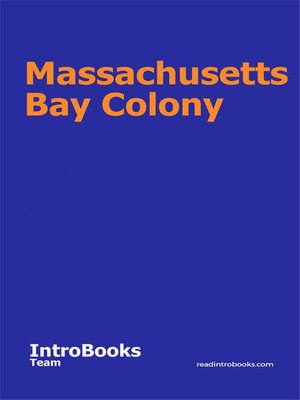 cover image of Massachusetts Bay Colony