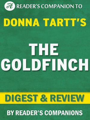 cover image of The Goldfinch by Donna Tartt
