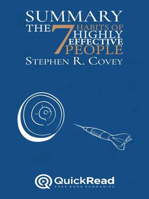 """cover image of Summary of """"The 7 Habits of Highly Effective People"""" by Stephen R. Covey"""