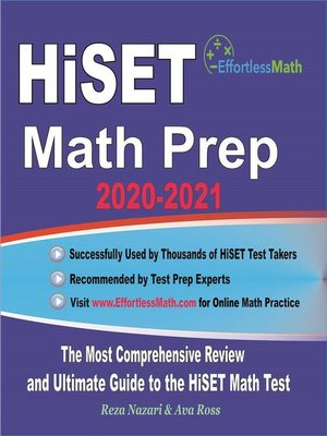 cover image of HiSET Math Prep 2020-2021