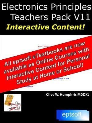 cover image of Electronics Principles Teachers Pack V11