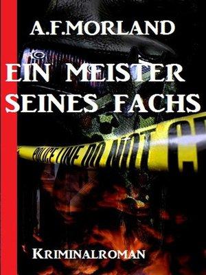 cover image of Ein Meister seines Fachs