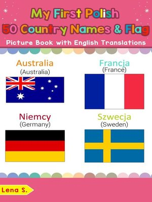 cover image of My First Polish 50 Country Names & Flags Picture Book with English Translations